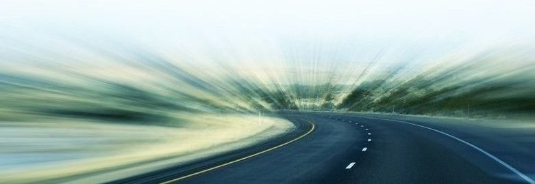 Blurry Vision of Highway